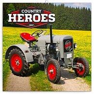 Kalendář poznámkový 2017 - Traktory