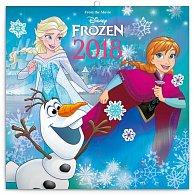 Kalendář poznámkový 2018 - Frozen – Ledové království se samolepkami, 30 x 30 cm