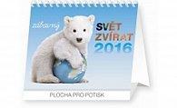 Kalendář stolní 2016 - Zábavný svět zvířat,  16,5 x 13 cm
