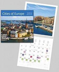 Cities of Europe - nástěnný kalendář 2013