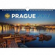 Kalendář nástěnný 2017 - Praha/18měsíční
