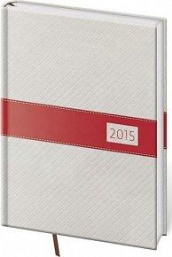 Diář 2015 - Eclisse denní A5 - bílý/červený