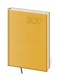 Diář 2017 - Print/týdenní A5 žlutá