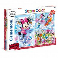 Puzzle Supercolor Minnie sport 3x48 dílků