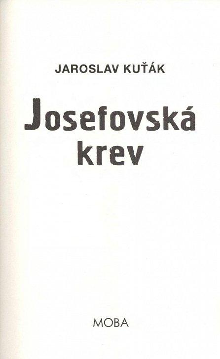 Náhled Josefovská krev
