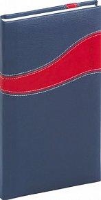 Diář 2013 - Calipso - Kapesní, modročervená, 9 x 15,5 cm