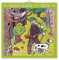 Kalendář 2015 - Josef Lada V lese - nástěnný 8jazyčný (CZ, SK, HU, PL, RU, GB, DE, ES)