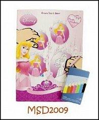Omalovánky Disney Princess + pastelky zdarma