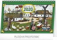 Kalendář stolní 2020 - Josef Lada – Tradice a zvyky, 23,1 × 14,5 cm