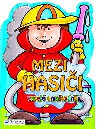 Mezi hasiči - veselé omalovánky