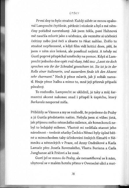 Náhled Útěky – Lída Baarová. Život české herečky, jak jej podle jejího vyprávění zapsal Josef Škvorecký