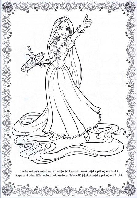 Náhled Disney Princezna - Omalovánky A4