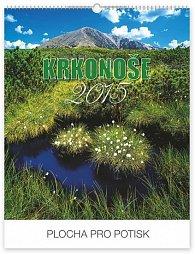 Kalendář 2015 - Krkonoše s českými jmény Praktik - nástěnný s prodlouženými zády