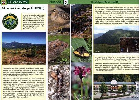 Náhled Národní parky ČR - Naučné karty