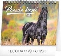Kalendář stolní 2018 - Poezie koní – Christiane Slawik, 16,5 x 13 cm