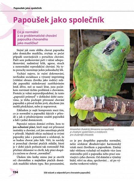 Náhled 550 otázek a odpovědí pro chovatele papoušků