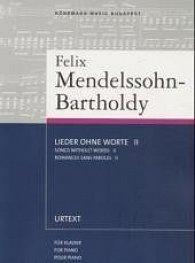 Felix Mendelssohn Bartholdy: Písně beze slov II - noty