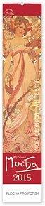 Kalendář 2015 - Alfons Mucha - nástěnný kravata (ČJ, AJ, NJ, FJ)