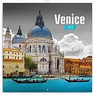 Kalendář poznámkový 2018 - Benátky, 30 x 30 cm