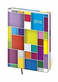 Diář 2016 - Vario A5 denní - Cube