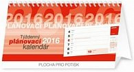 Týždenný plánovací kalendár - stolový kalendár 2016