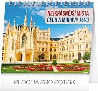 Kalendář stolní 2020 - Nejkrásnější místa Čech a Moravy, 16,5 × 13 cm