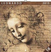 Kalendář 2013 poznámkový - Leonardo da Vinci, 30 x 60 cm
