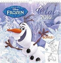 Kalendář nástěnný 2016 - W. D. Ledové království - Olaf, poznámkový  21 x 21 cm