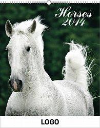 Kalendář 2014 - Koně Praktik - nástěnný s prodlouženými zády
