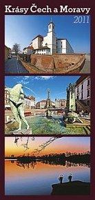 Kalendář 2011 - Krásy Čech a Moravy (20x42) nástěnný