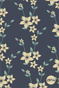 Diář 2014 - Květiny - Týdenní magnetický (ČES, SLO, MAĎ, POL, RUS, ANG)