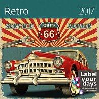 Kalendář nástěnný 2017 - Retro