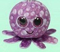 Plyš očka střední chobotnice fialová