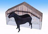 Koně - Jednoduchá vystřihovánka