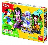 Mickey a kamarádi - Puzzle 4x54