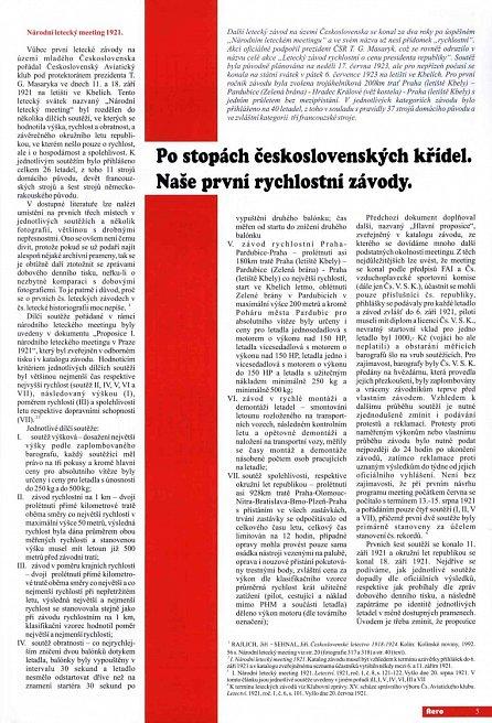 Náhled Naše první rychlostní závody - Po stopách československých křídel