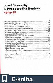 Návrat poručíka Borůvky  (spisy - svazek 38) (E-KNIHA)