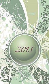 Diář 2013 - Green, 9 x 15 cm