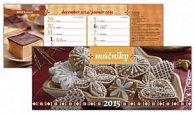 Múčniky 2015 Stolový kalendár