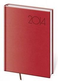 Diář 2014 - týdenní B6 Print - červená