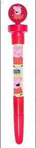 Prasátko Peppa - Svítící propiska s bublifukem a razítkem