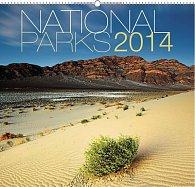 Kalendář 2014 - Národní parky Jiří Stránský - nástěnný s prodlouženými zády