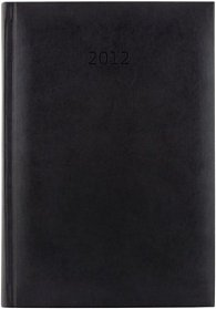 Diář koženkový 2012 - Print týdenní A5 - černá