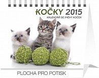 Kalendář 2015 - Kočky se jmény koček Praktik - stolní týdenní