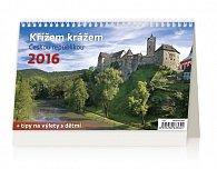 Kalendář stolní 2016 - Křížem krážem Českou republikou