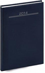 Diář 2014 - Balacron - Týdenní A5, tmavě modrá,15 x 21 cm (ČES, SLO, ANG, NĚM)