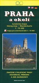 Praha a okolí turistická mapa 1:75 000
