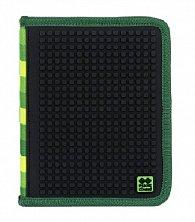 Pixie Školní Penál PXA-04 zelená / černá