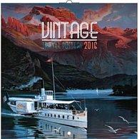 Kalendář nástěnný 2016 - Plakáty - cestování, poznámkový  30 x 30 cm