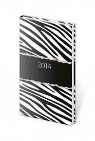 Diář 2014 - kapesní týdenní Vario - Zebra
